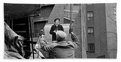 Vivian Maier Self Portrait Probably Taken In Chicago Illinois 1955 Hand Towel