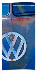 Volkswagen Vw Bus Emblem Bath Towel