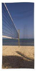 Vollyball Net On The Beach Bath Towel