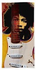 Jimi Hendrix Electric Guitarist Hand Towel