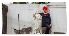 Voodoo Woman At New Orleans Cemetery Hand Towel