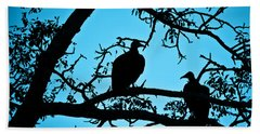 Vultures Hand Towel by Delphimages Photo Creations