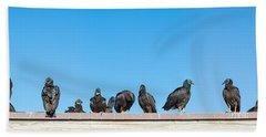 Vultures On Anhinga Trail, Everglades Hand Towel