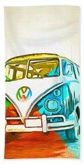 Vw Bus Pop Art 5 Bath Towel