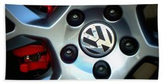 Vw Gti Wheel Bath Towel by Joseph Skompski