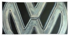 Vw Logo Chrome Bath Towel