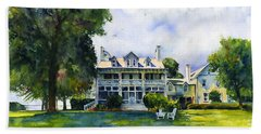 Wades Point Inn Hand Towel by John D Benson