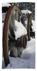 Wagons West Hand Towel by Jennifer Lake