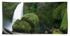 Wahclella Falls And Boulder Hand Towel
