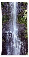 Wailua Falls Maui Hawaii Bath Towel by DJ Florek