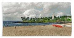 Waimea Beach Park In Hawaii Bath Towel