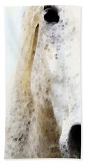 Horse Art - Waiting 2 - By Sharon Cummings Bath Towel