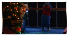 Waiting For Santa - Christmas Card Hand Towel