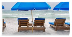 Panama City Beach Florida Empty Chairs Hand Towel