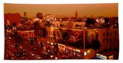 Walk Of Fame Hollywood In Orange Bath Towel