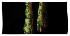 Walking In Clover Hand Towel by Donna Blackhall