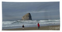Walking On The Beach Hand Towel by Susan Garren