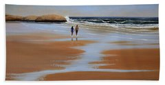 Walking The Beach Hand Towel