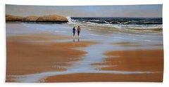 Walking The Beach Hand Towel