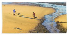 Walking The Dogs Bath Towel
