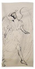 Walking With An Angel Hand Towel