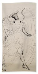 Walking With An Angel Bath Towel