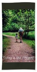 Walking With Grandma Bath Towel