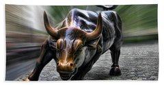 Wall Street Bull Bath Towel