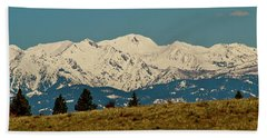 Wallowa Mountains Oregon Hand Towel by Ed  Riche