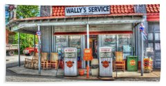 Wally's Service Station Bath Towel by Dan Stone