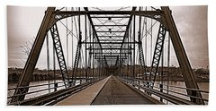 Walnut Street Bridge Bath Towel by Joseph Skompski