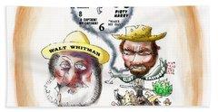 Walt Whitman Meets Clint Eastwood Bath Towel