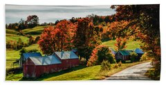 Wandering Down The Road Bath Towel by Jeff Folger