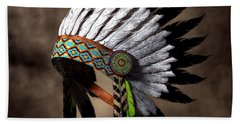 War Bonnet Hand Towel by Daniel Eskridge