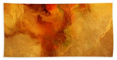 Warm Embrace - Abstract Art Bath Towel