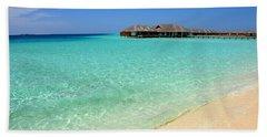 Warm Welcoming. Maldives Hand Towel by Jenny Rainbow