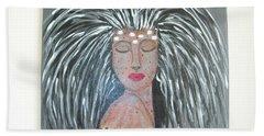 Warrior Woman #2 Hand Towel by Sharyn Winters