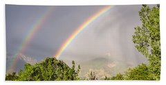 Bath Towel featuring the photograph Wasatch Rainbow by Sue Smith