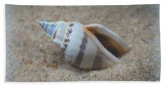 Washed Ashore Seashell Treasure Hand Towel by Ella Kaye Dickey