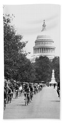 Washington Bicycle Parade Hand Towel