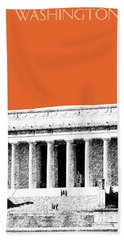 Washington Dc Skyline Lincoln Memorial - Coral Hand Towel