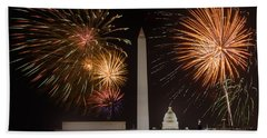 Washington Fireworks Bath Towel