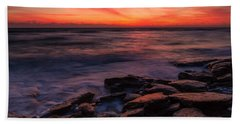 Washington Oaks Winter Sunrise Hand Towel