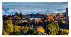Washington State University In Autumn Bath Towel