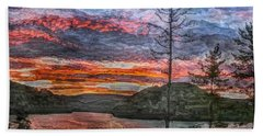 Watauga Lake Sunset Bath Towel