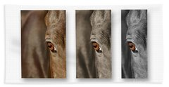 Watchful Triptych Hand Towel