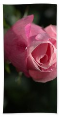 Water And Rose Hand Towel