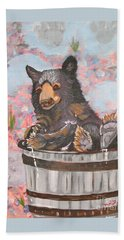 Water Bear Hand Towel by Phyllis Kaltenbach