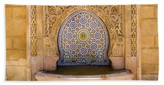 Bath Towel featuring the photograph Water Fountain Mausoleum Of Mohammed V Opposite Hassan Tower Rabat Morocco  by Ralph A  Ledergerber-Photography