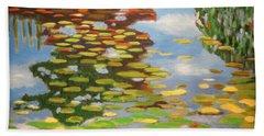 Water Lilies Bath Towel by Karyn Robinson